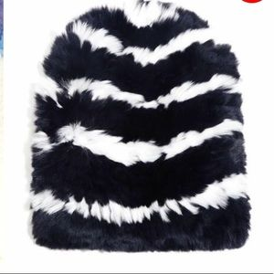 Eugenia Kim striped fur beanie